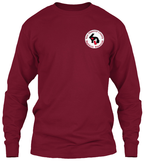 New Hanover County Rabbit Rescue Cardinal Red Long Sleeve T-Shirt Front