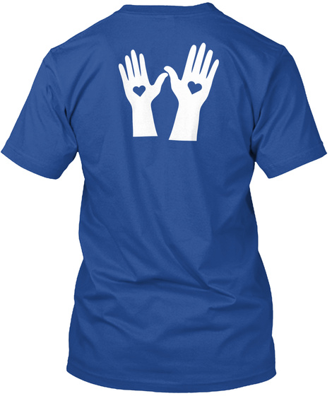 Love Sets Free Deep Royal T-Shirt Back