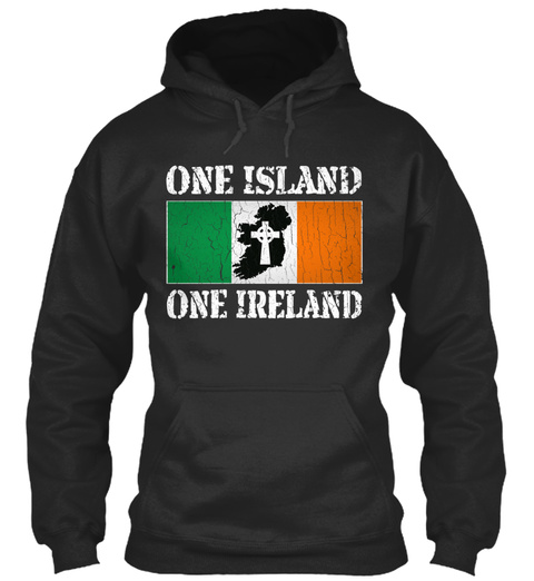 Top New Design Better Day   One Island,  Jet Black Sweatshirt Front