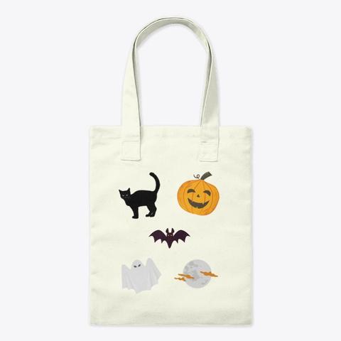 Fun Halloween Design Natural T-Shirt Front