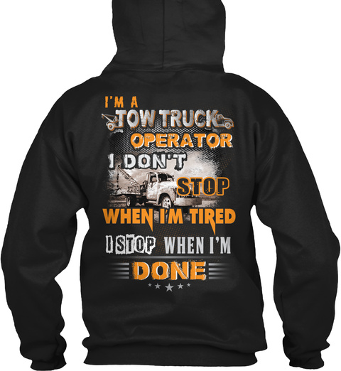 Tow Truck Operator Christmas Special Black T-Shirt Back
