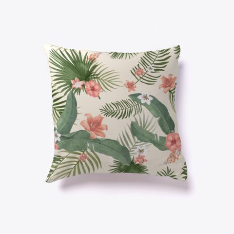 Summer Vibes Tropical Theme Pillow Standard T-Shirt Front