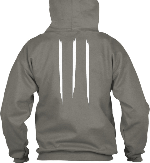 """Promotion Hoodie """"Apricot"""" Charcoal T-Shirt Back"""
