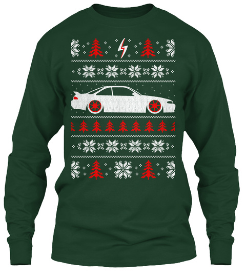 Jdm Ugly S14 Christmas Shirt Forest Green T-Shirt Front