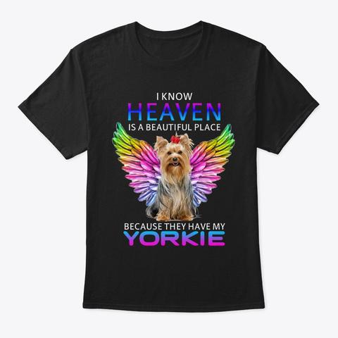 Yorkie Best Friend Black T-Shirt Front