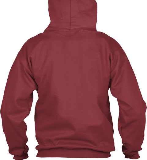 Just Breathe. Hoodie Maroon Sweatshirt Back