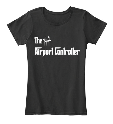 The Airport Controller Black T-Shirt Front