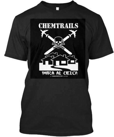Chemtrail Black Black Camiseta Front