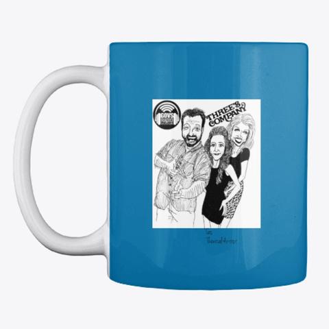 Three's Company   Govs Radio   Mug Royal Blue T-Shirt Front