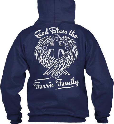 God Bless The Farris Family Navy T-Shirt Back