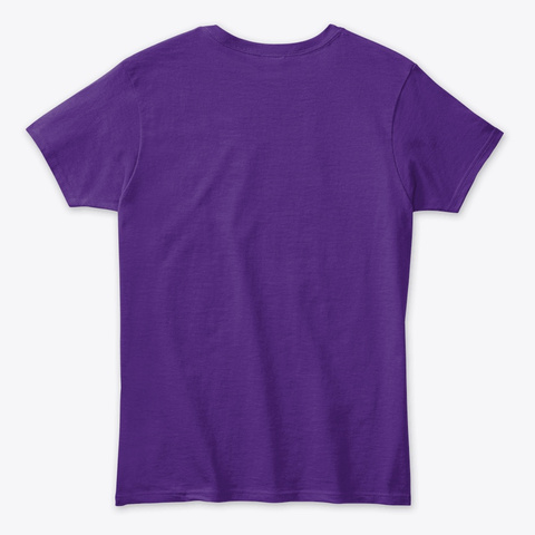 Let Go. Focus. Purple T-Shirt Back