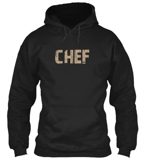 Chef Black Sweatshirt Front