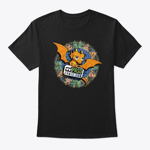El Paso Comic Con Dragon Black T-Shirt Front