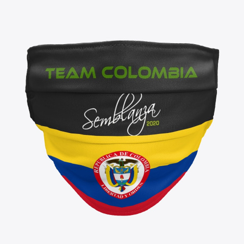Team Colombia! Black T-Shirt Front
