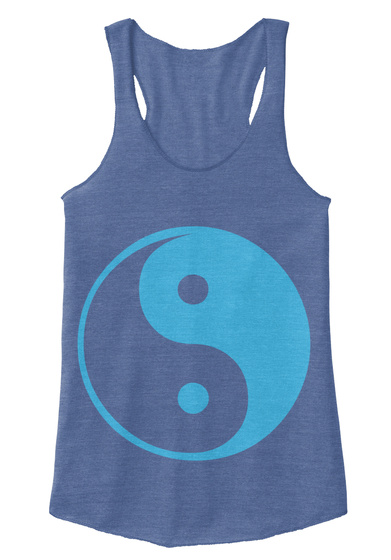 Yin Yang Tank Top Eco Pacific Blue  Camiseta Front