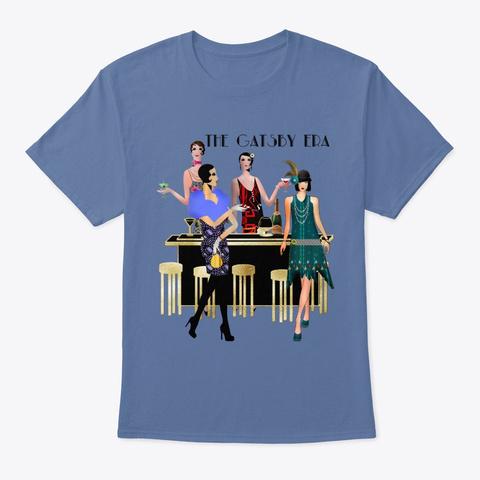 The Gatsby Era 5 Denim Blue T-Shirt Front