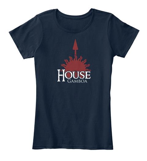 Gamboa Family House   Sun New Navy T-Shirt Front
