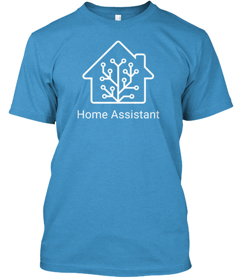 Blue Home Assistant T Shirt Heathered Bright Turquoise  T-Shirt Front