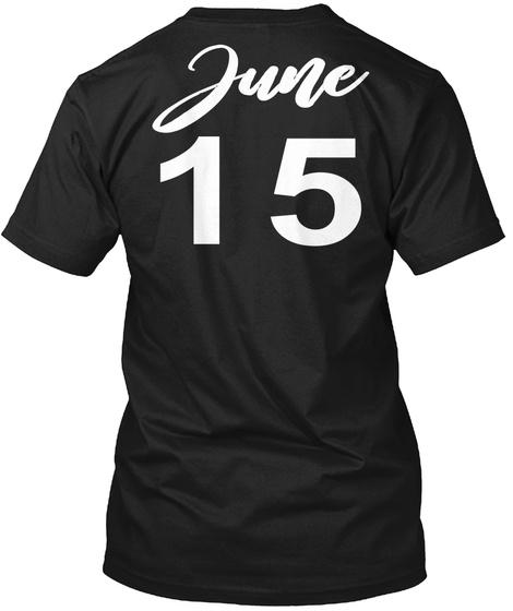 June 15 Gemini Black T-Shirt Back