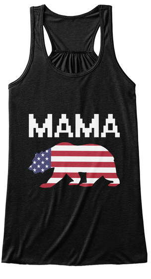 Mama Black Women's Tank Top Front