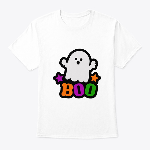Boo Halloween Costume White T-Shirt Front