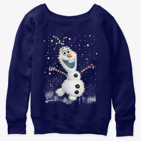 Olaf Navy  T-Shirt Front