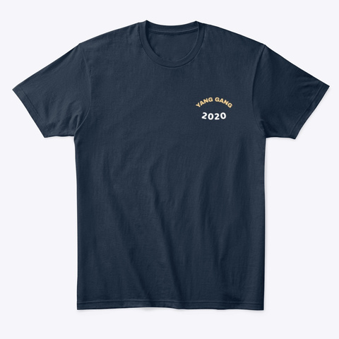 The Yang 2020 Color Logo Collection New Navy T-Shirt Front