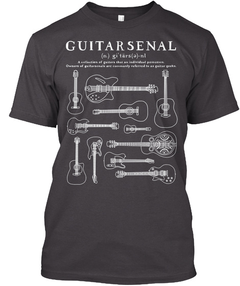 Guitar Senal  Heathered Charcoal  T-Shirt Front
