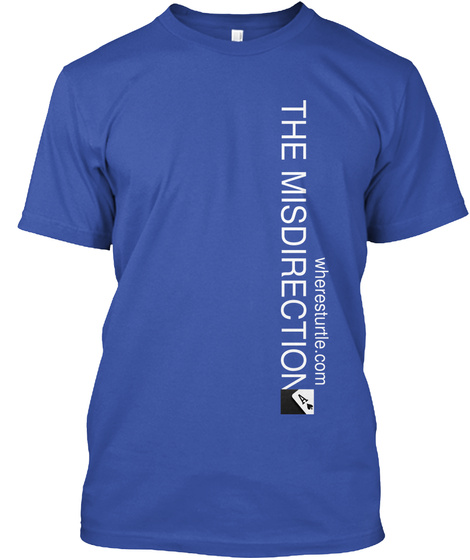 The Misdirection Wheresturtle.Com Royal T-Shirt Front