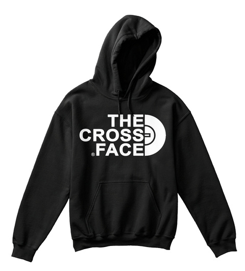 The Cross Face Black T-Shirt Front