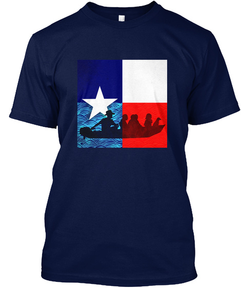 Hurricane Harvey Relief | Texas Strong! Navy T-Shirt Front