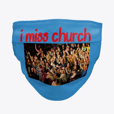 Missing Church  Denim Blue T-Shirt Front