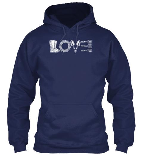 Love Navy T-Shirt Front