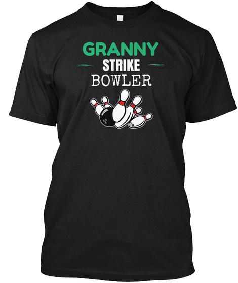 Granny Strike Bowler T Shirt Black T-Shirt Front