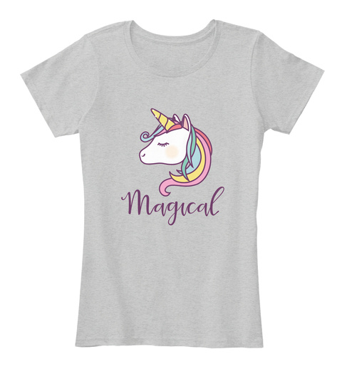 Magical Light Heather Grey T-Shirt Front