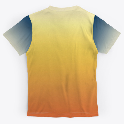 Groovy Abstract Color Gradient Standard T-Shirt Back