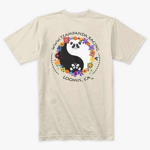 Yin And Yang Flowers  Cream T-Shirt Back