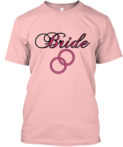 Bride Pale Pink T-Shirt Front