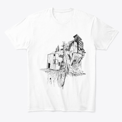 Cliff House White T-Shirt Front