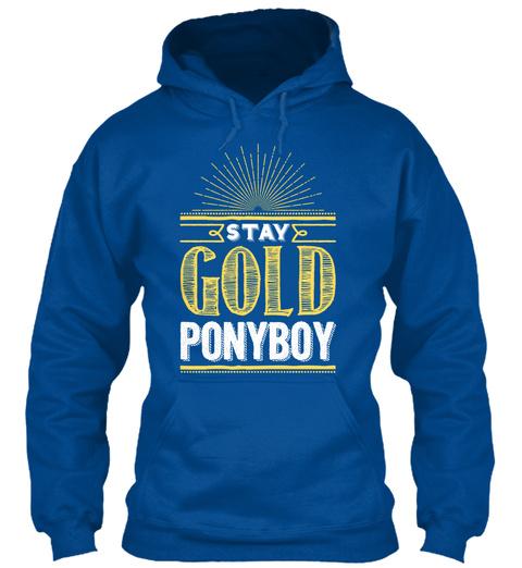 Stay Gold Ponyboy Royal Sweatshirt Front
