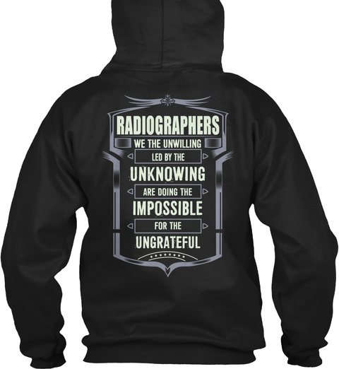 Radiographers Black T-Shirt Back