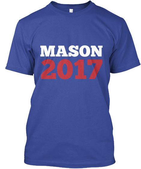 Mason 2017 Deep Royal áo T-Shirt Front