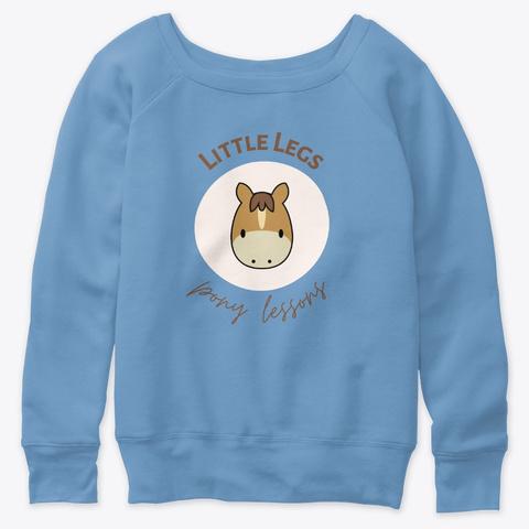 Little Legs Pony Lessons Blue Triblend  T-Shirt Front