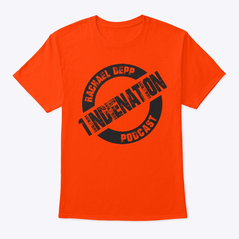 Updated Colors 1indienation Podcast  Orange T-Shirt Front