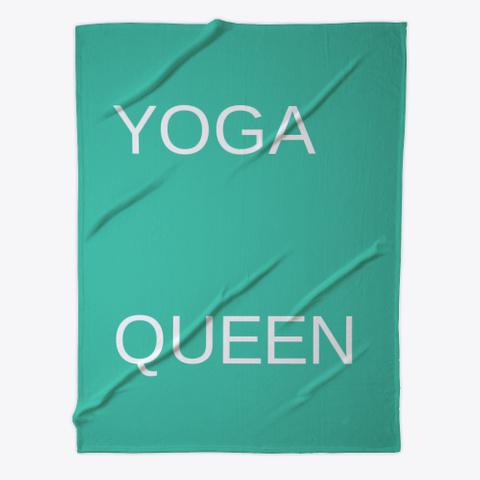 Yoga Queen Fleece Aqua T-Shirt Front