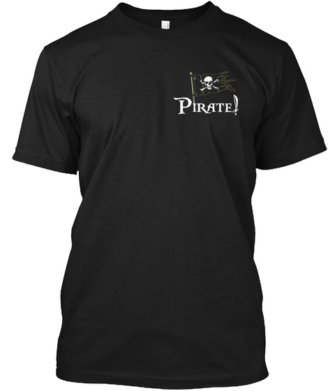 Pirate Black T-Shirt Front