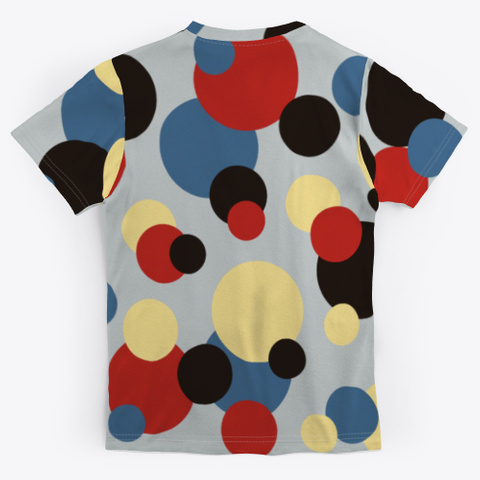 Abstract Multicolor Dots Standard T-Shirt Back
