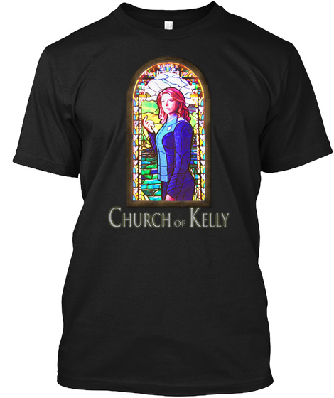 Church Of Kelly Black T-Shirt Front