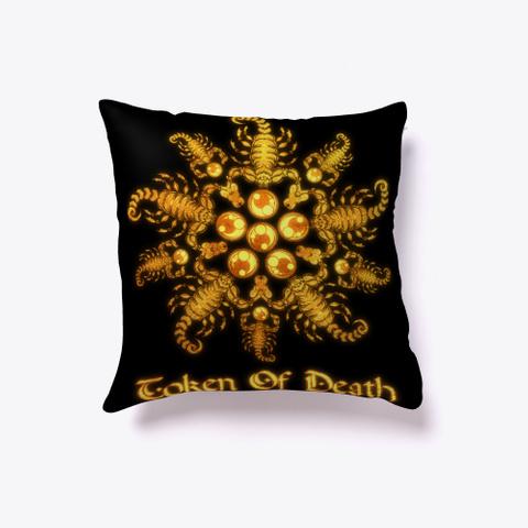 Scorpion Flower   Gold Metal  Black Camiseta Front