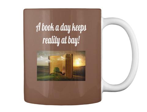 A Book A Day Keeps Reality At Bay! Brown Mug Back
